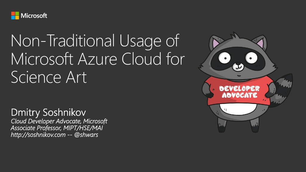 Non-Traditional Usage of Microsoft Azure Cloud ...