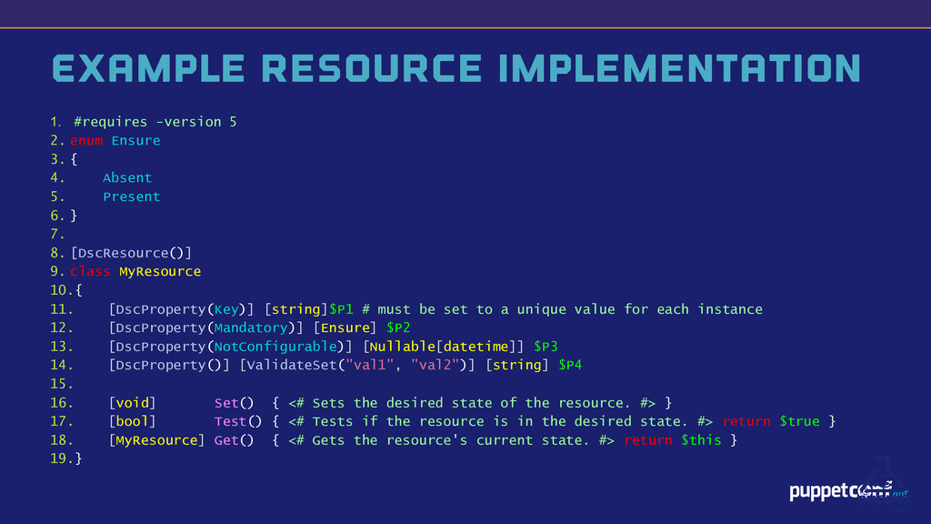 v Example Resource Implementation 1. #requires ...