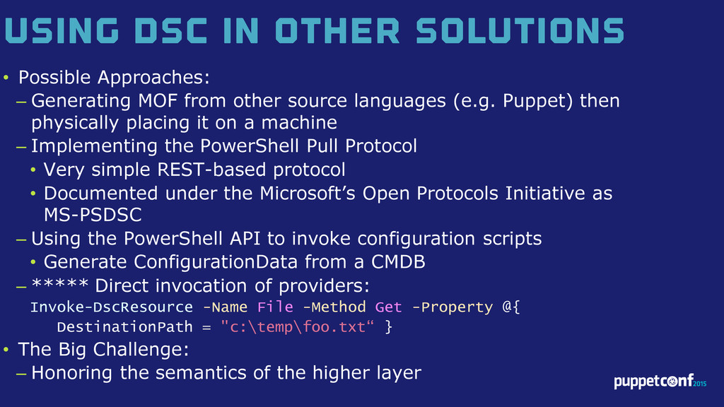 v Using DSC in Other Solutions • Possible Appro...