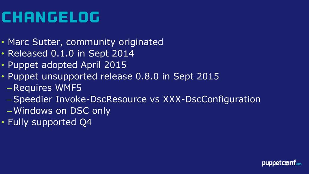 v • Marc Sutter, community originated • Release...