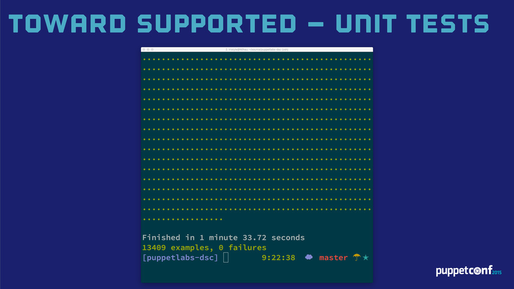 Toward Supported – UNIT TestS