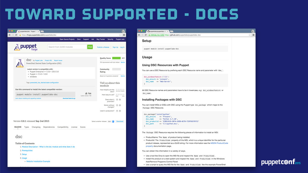 Toward Supported - Docs