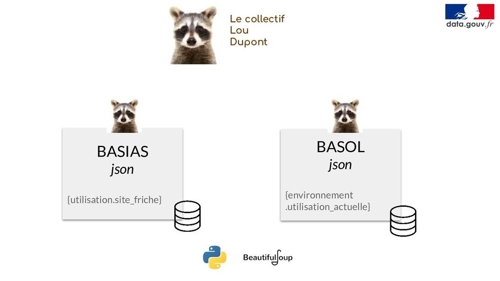 BASIAS json {utilisation.site_friche} BASOL jso...