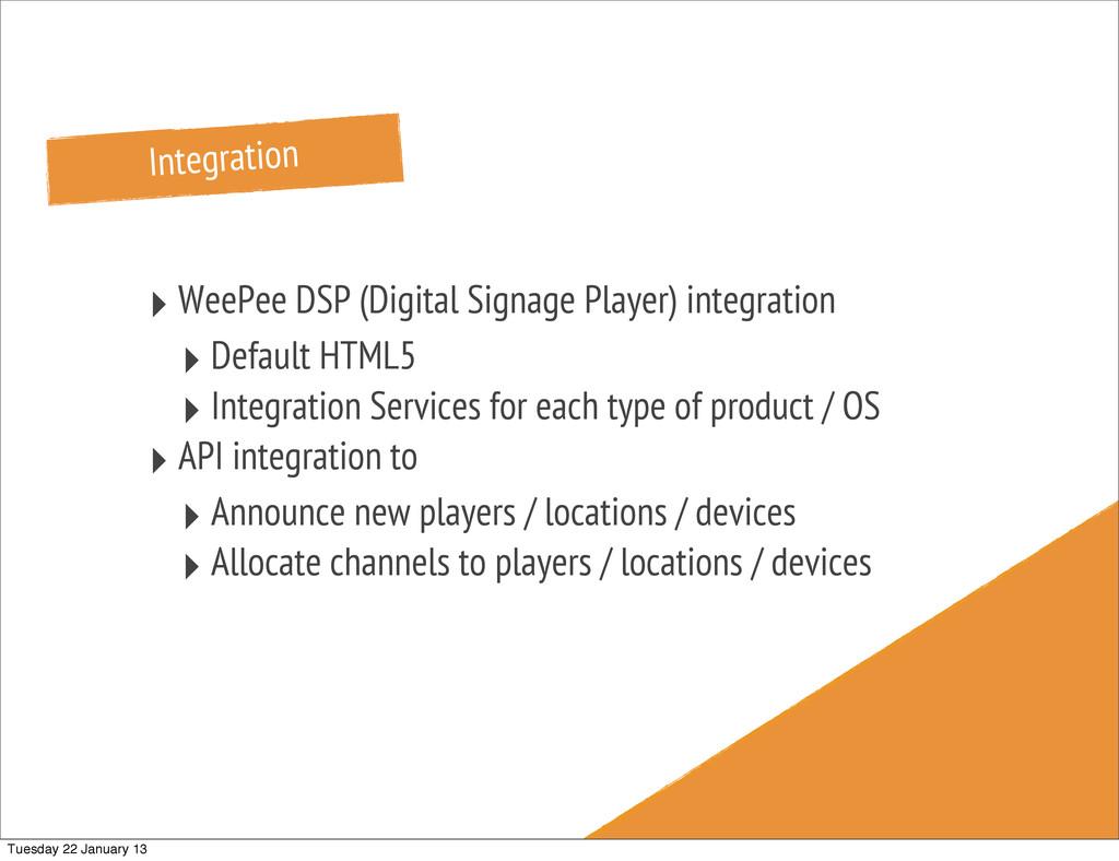 Integration ‣ WeePee DSP (Digital Signage Playe...