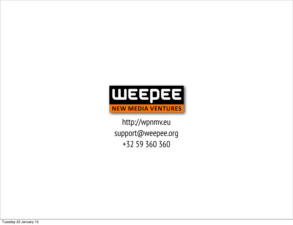 http://wpnmv.eu support@weepee.org +32 59 360 3...