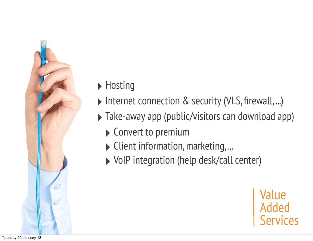 ‣ Hosting ‣ Internet connection & security (VLS...