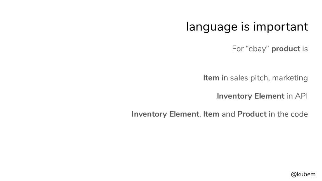 """@kubem language is important For """"ebay"""" product..."""