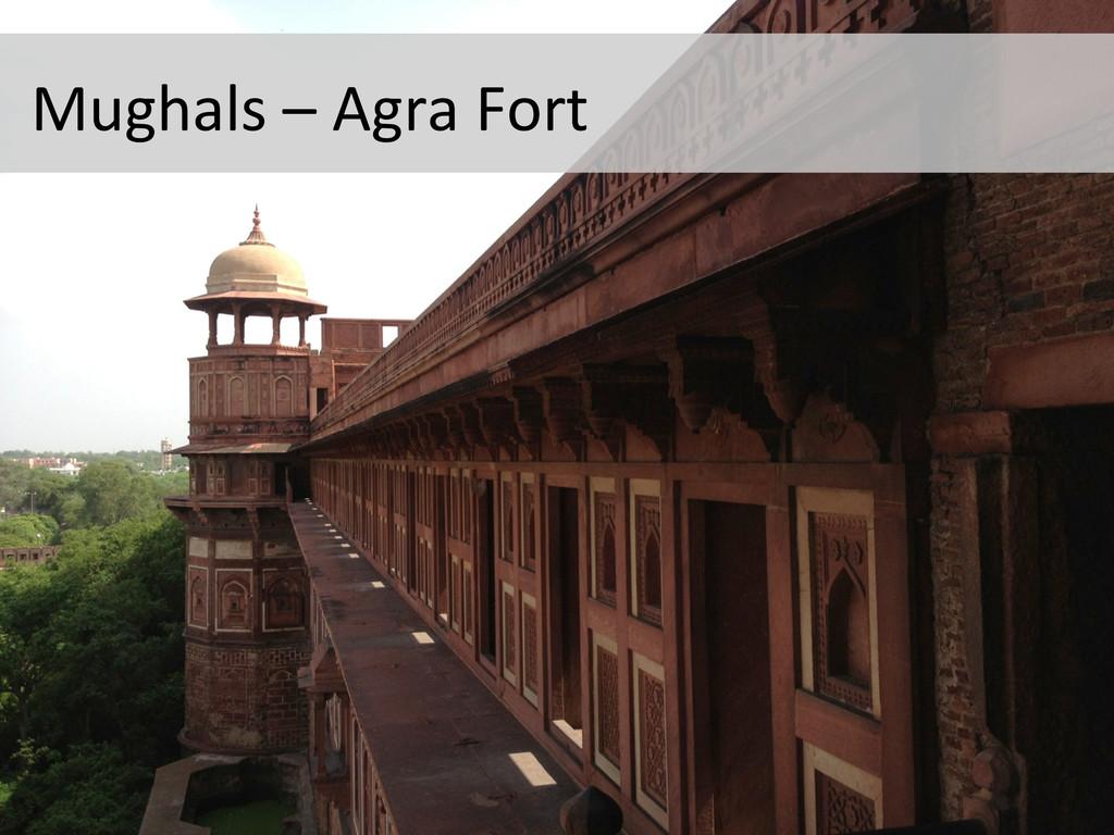 Mughals – Agra Fort