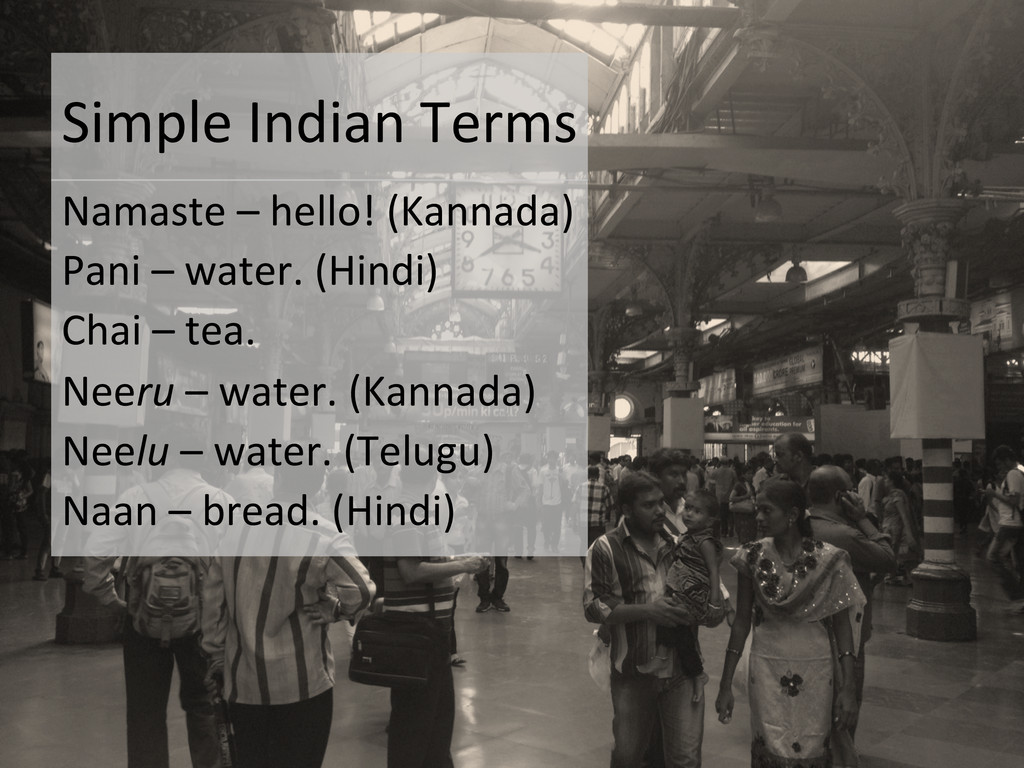 Simple Indian Terms  Namaste – h...