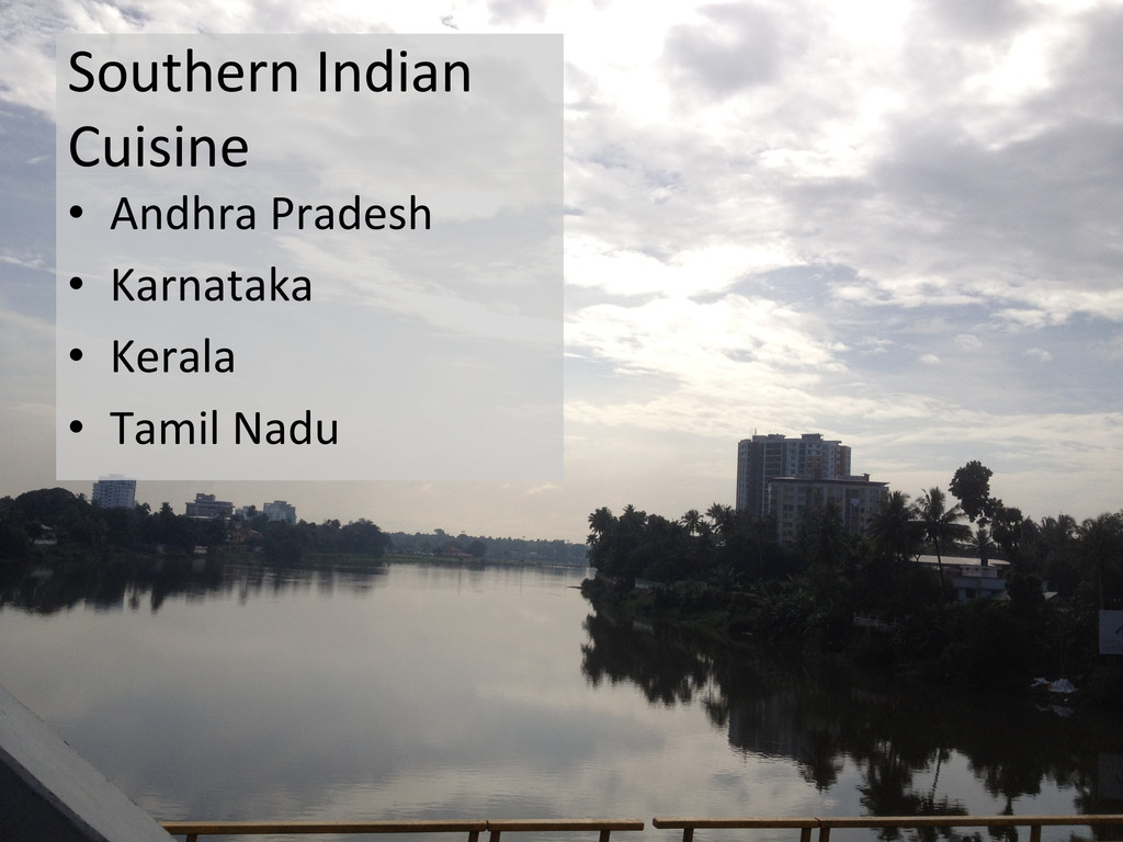 Southern Indian  Cuisine  • Andhra ...
