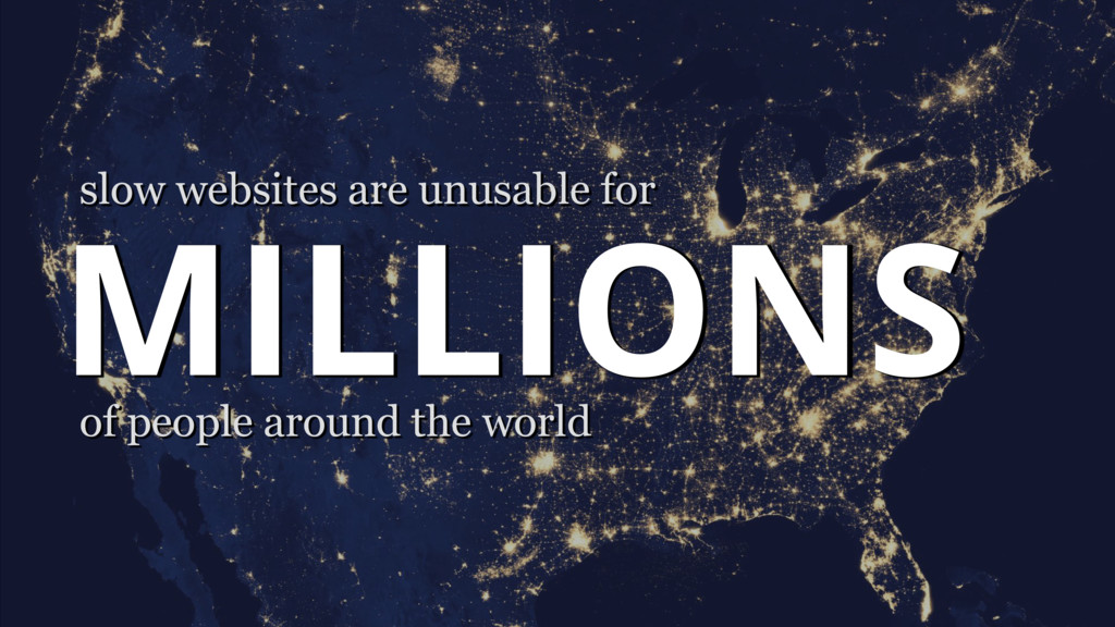 MILLIONS of people around the world slow websit...
