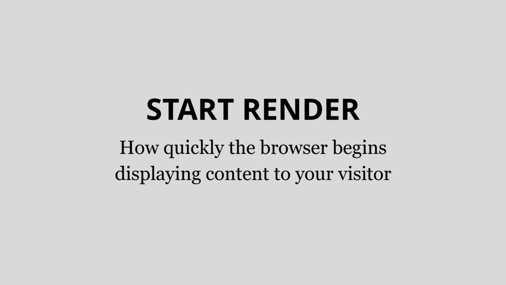 START RENDER