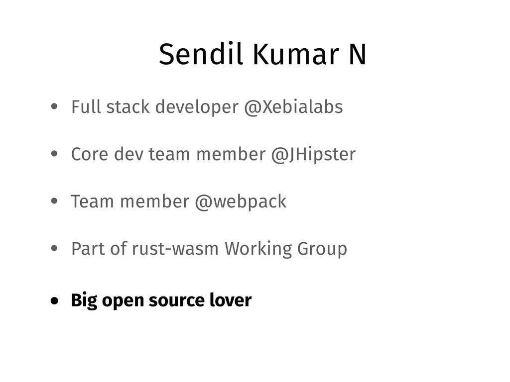 Sendil Kumar N • Full stack developer @Xebialab...