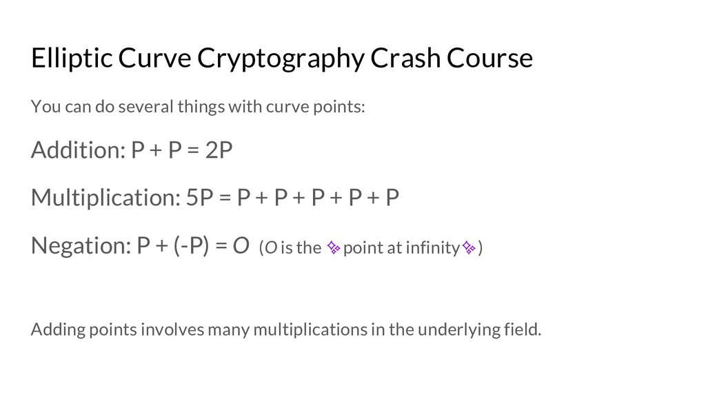 Elliptic Curve Cryptography Crash Course You ca...