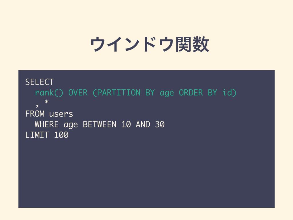 Πϯυؔ SELECT rank() OVER (PARTITION BY age OR...