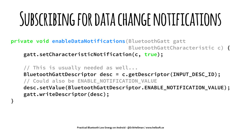 Subscribing for data change notifications priva...