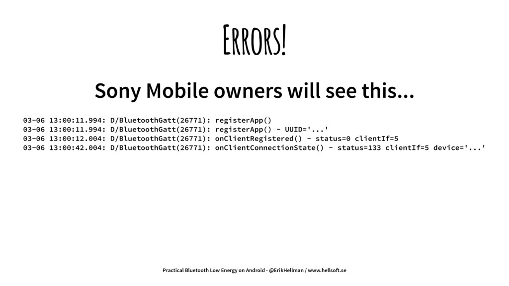 Errors! Sony Mobile owners will see this... 03-...