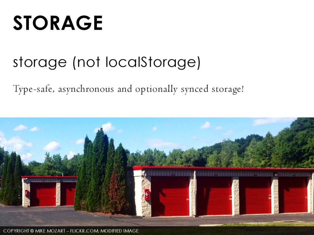 STORAGE storage (not localStorage) Type-safe, a...