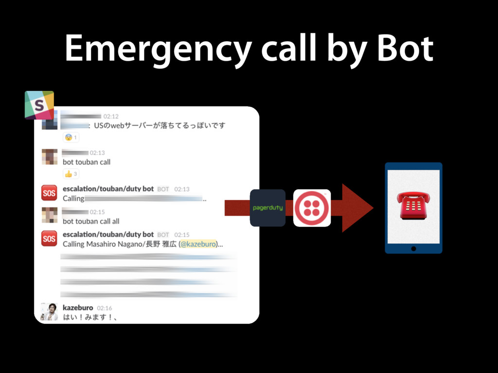 Emergency call by Bot ☎