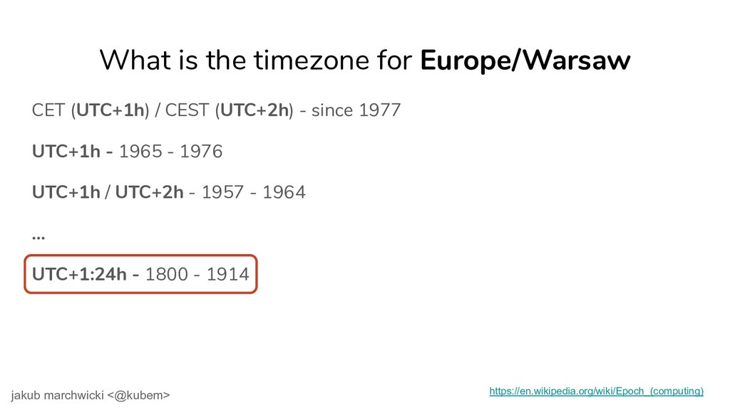 UTC+1h - 1965 - 1976 UTC+1h / UTC+2h - 1957 - 1...