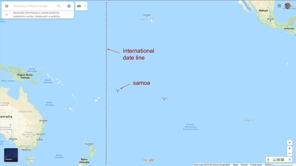 samoa international date line