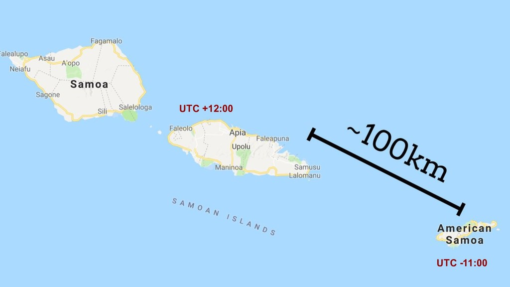UTC +12:00 UTC -11:00