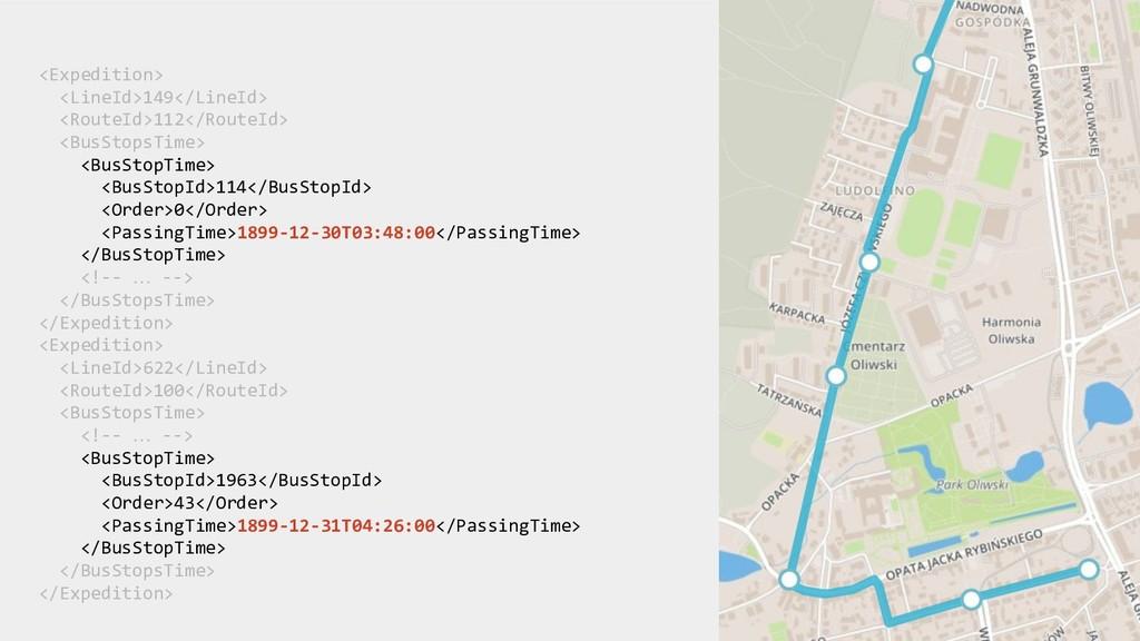 <Expedition> <LineId>149</LineId> <RouteId>112<...