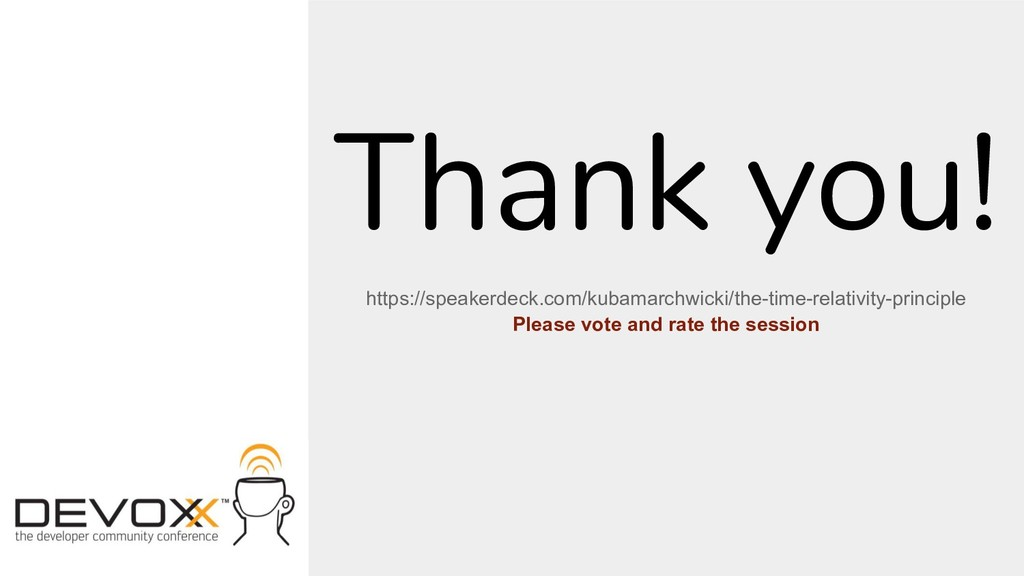 Thank you! https://speakerdeck.com/kubamarchwic...