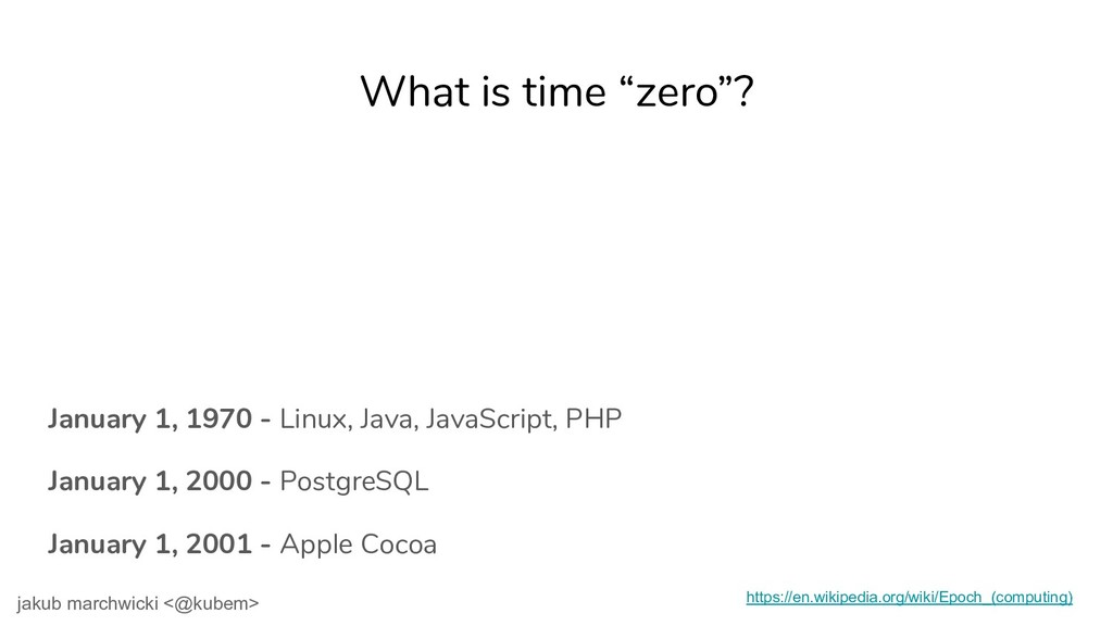 """What is time """"zero""""? January 1, 1970 - Linux, J..."""
