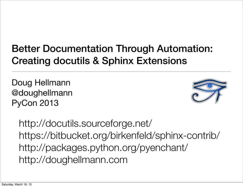 Better Documentation Through Automation: Creati...