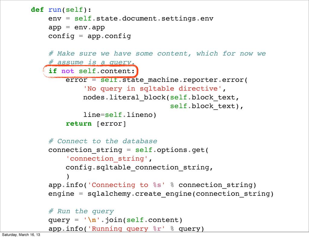 def run(self): env = self.state.document.settin...