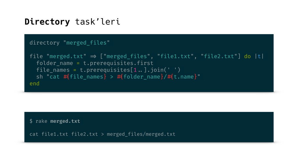 "Directory task'leri directory ""merged_files"" fi..."