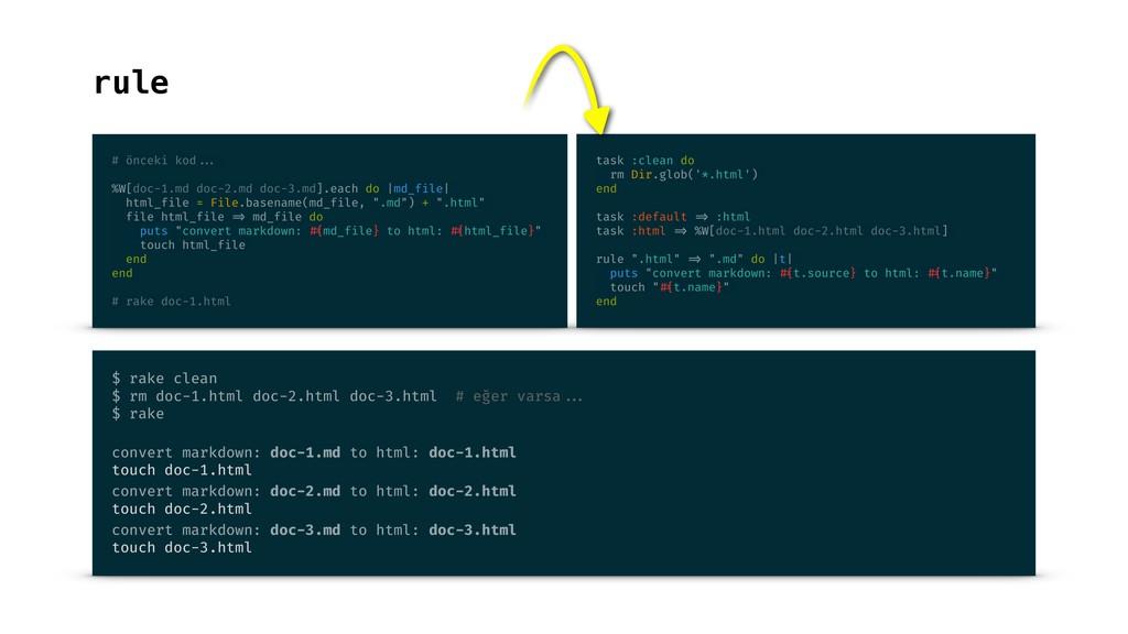 rule # önceki kod ... %W[doc-1.md doc-2.md doc-...