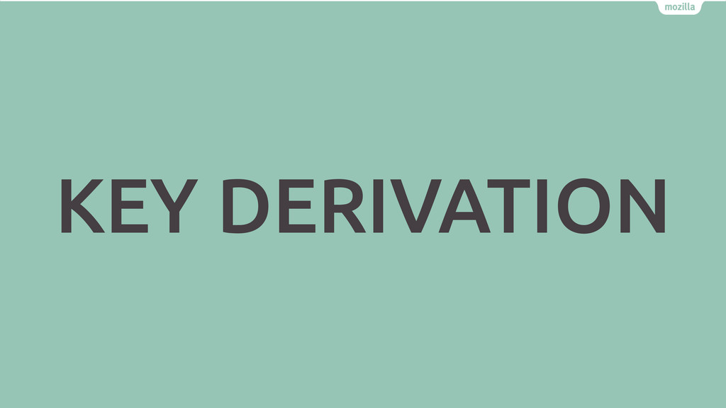 KEY DERIVATION
