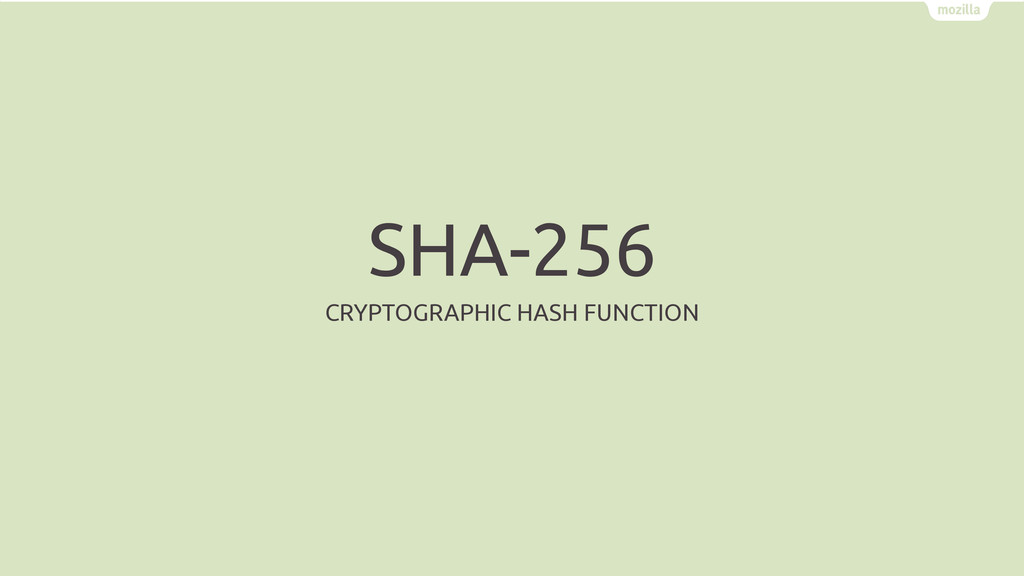 SHA-256 CRYPTOGRAPHIC HASH FUNCTION