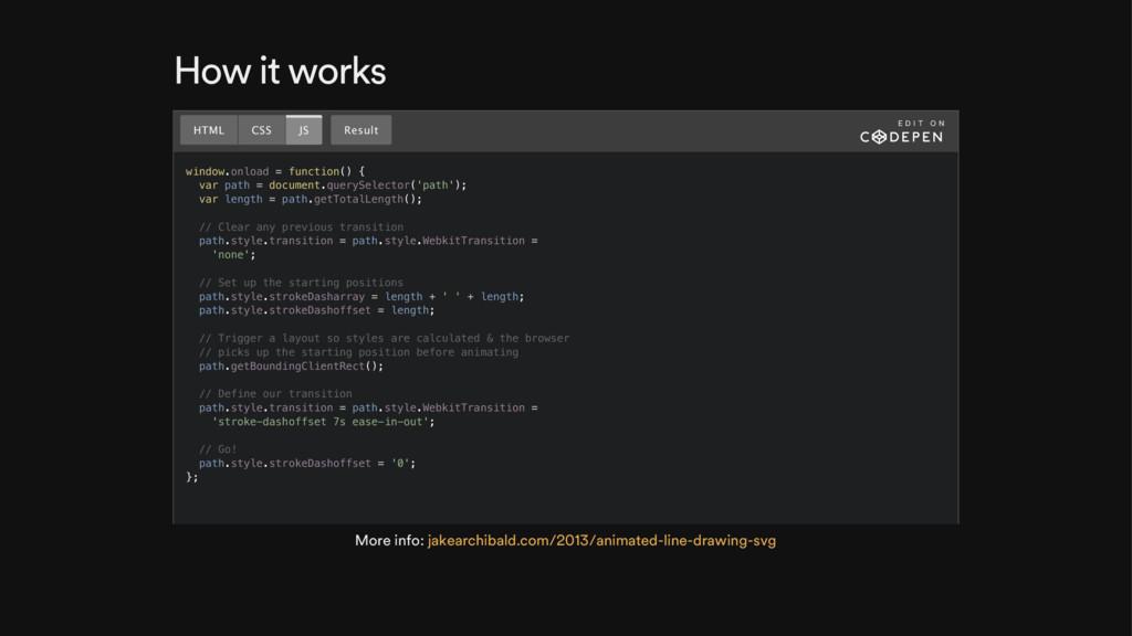 How it works window.onload = function() { var p...