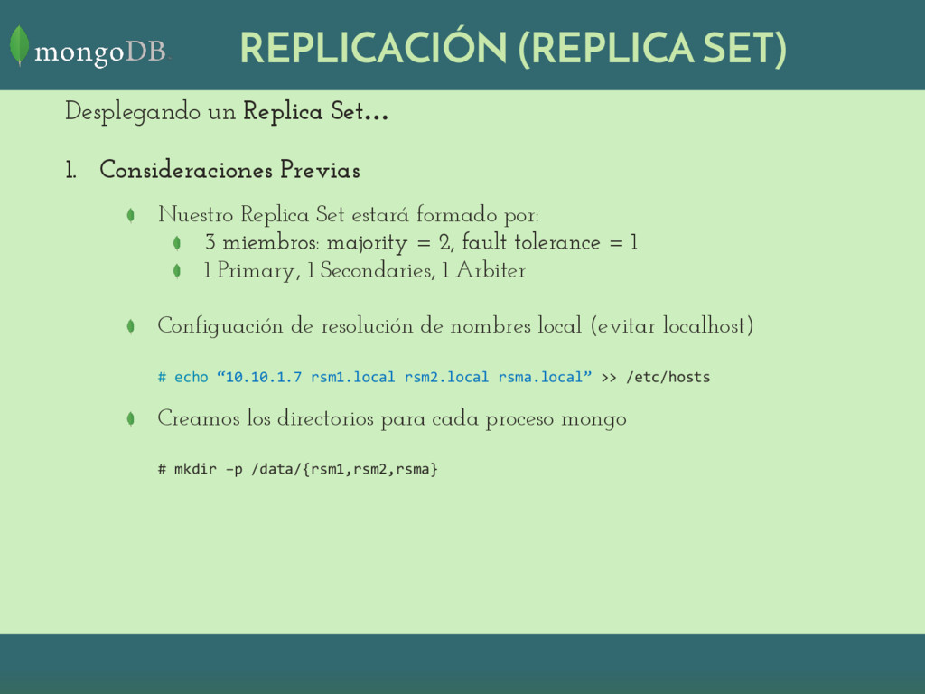 REPLICACIÓN (REPLICA SET) Desplegando un Replic...