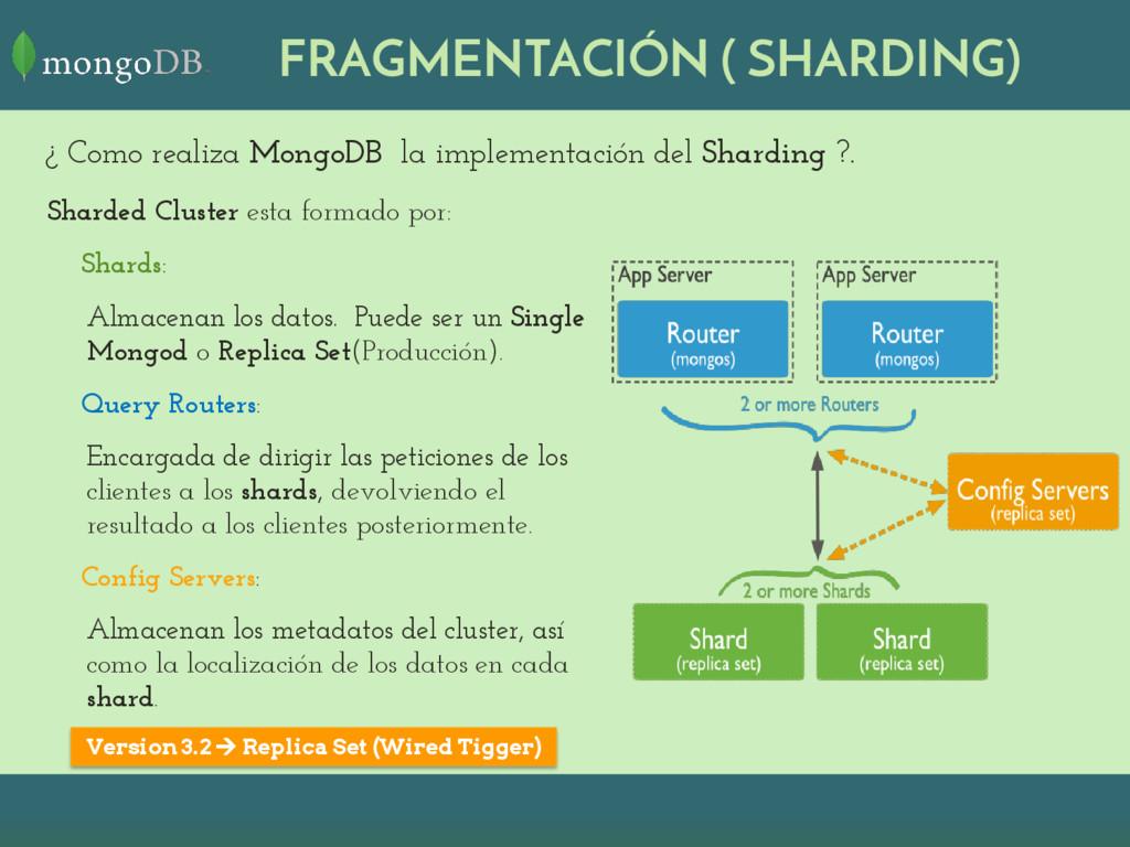 ¿ Como realiza MongoDB la implementación del Sh...