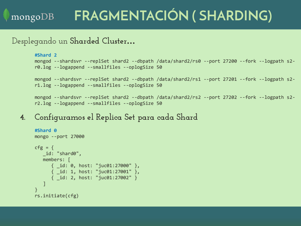 FRAGMENTACIÓN ( SHARDING) Desplegando un Sharde...