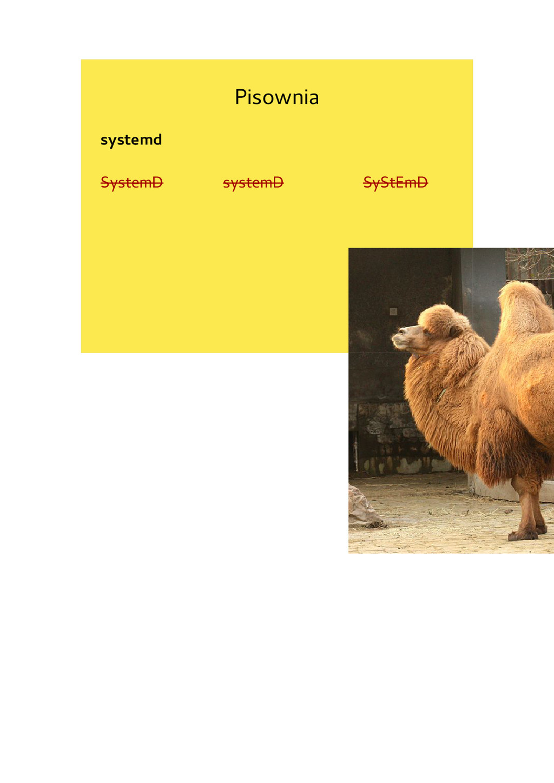 Pisownia systemd SystemD systemD SyStEmD
