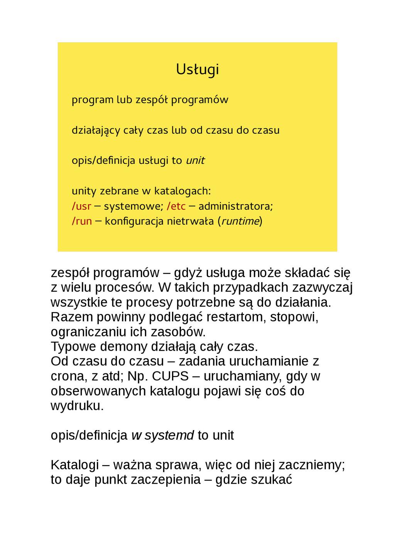 Usługi program lub zespół programów działający ...