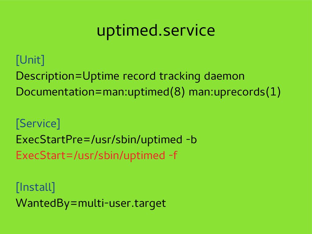 uptimed.service [Unit] Description=Uptime recor...