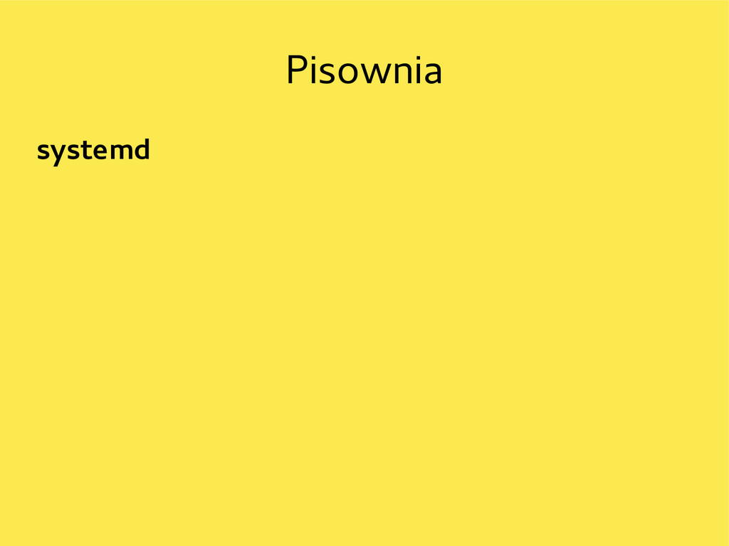 Pisownia systemd