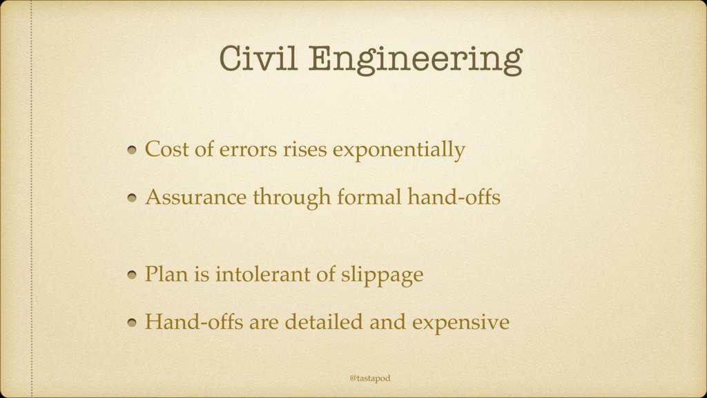 @tastapod Civil Engineering Cost of errors rise...