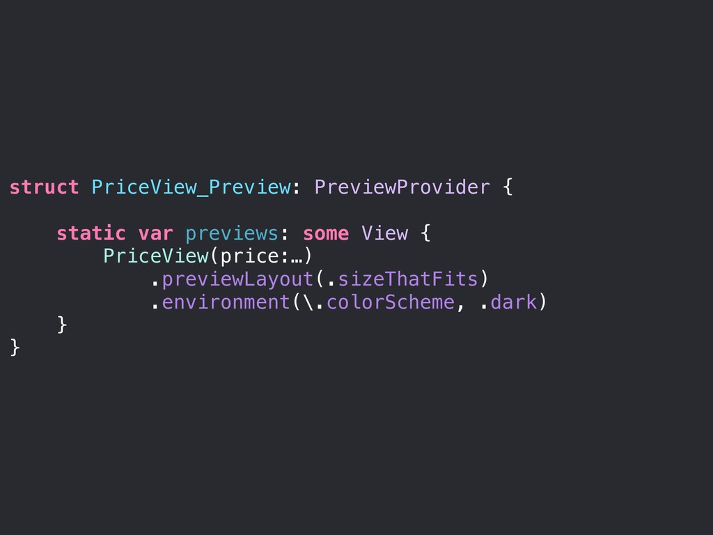 struct PriceView_Preview: PreviewProvider { sta...