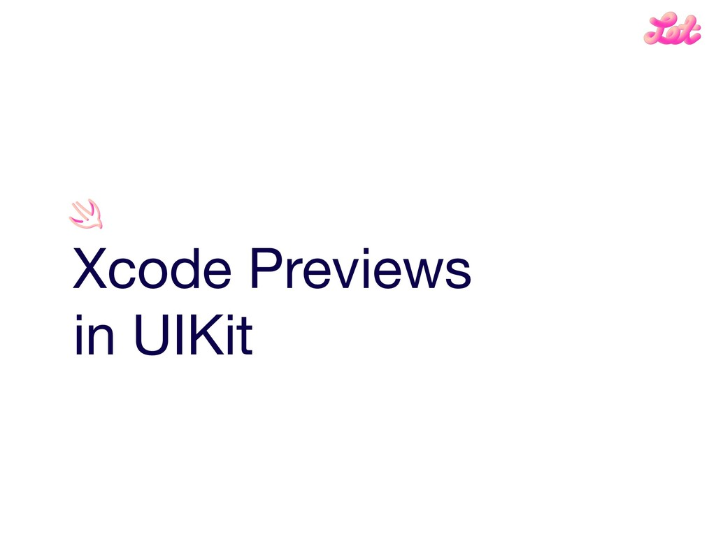 Xcode Previews  in UIKit