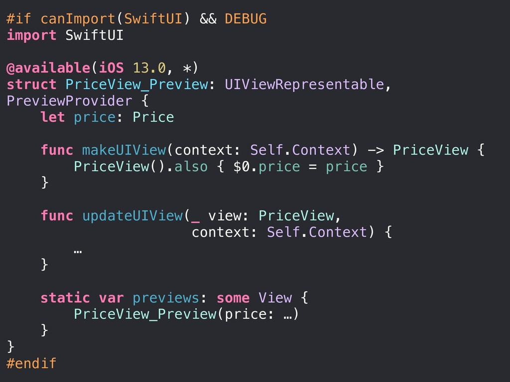 #if canImport(SwiftUI) && DEBUG import SwiftUI ...