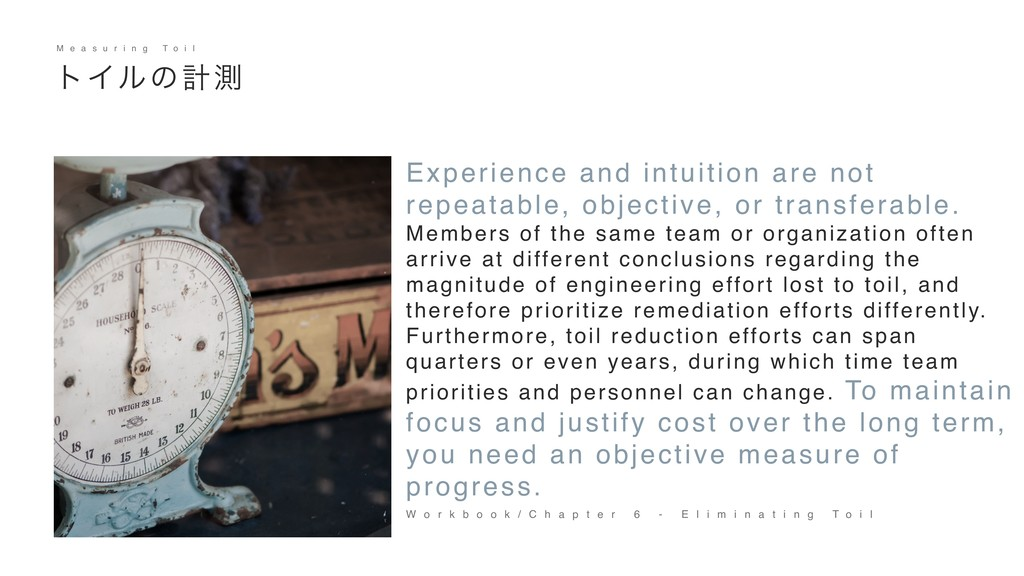 30 Experience and intuition are not repeatable,...