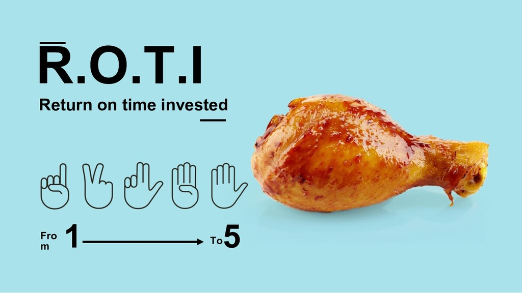 R.O.T.I Return on time invested Fro m 1 5 To