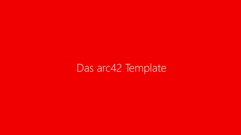 Das arc42 Template